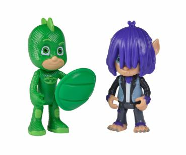 PJ Masks 109402224 - Figuren Set Gecko + Kevin