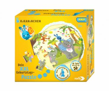 Noris 606031719 -  KiKANiNCHEN XXL Puzzle - Happy Birthday